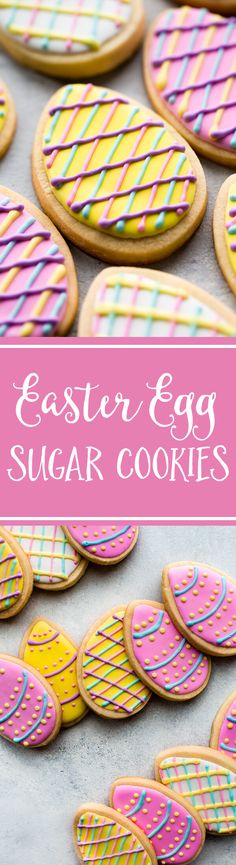 How to make decorated Easter egg sugar cookies! Recipe on sallysbakingaddiction.com