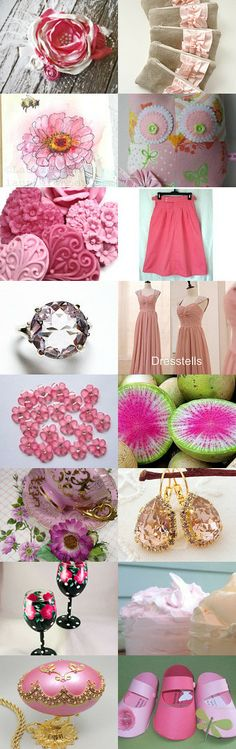 16 Shades of Pink by Loribeth on Etsy--Pinned with TreasuryPin.com