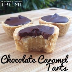 Chocolate Caramel Tarts made easy with your thermomix or similar. Chocolate Caramel Tart, Chocolate Caramels, Caramel Treats, Caramel Brownies, Chocolate Tarts, Paleo Chocolate, Chocolate Lovers, Yummy Treats, Sweet Treats