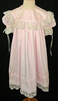 HEIRLOOM GIRL'S DRESS in Pink with Round by ChildrensCottage