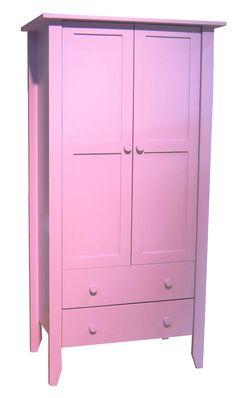 Armoire deux portes / deux tiroirs Tilleul, plus d'infos sur anders-paris.com