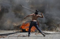 """soldiers-of-war: """"PALESTINIAN TERRITORIES. West Bank. Ramallah. October 2015. A Palestinian clashes with Israeli forces amid rising reports of attacks, led and suffered by Israeli and Palestinian populations. Violence in the Israeli-occupied West..."""
