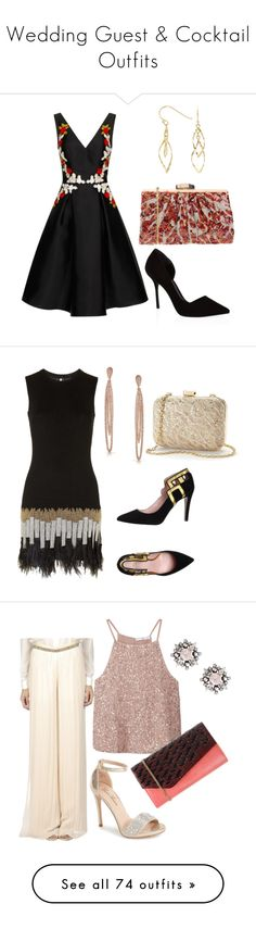 """""""Wedding Guest & Cocktail Outfits"""" by romaosorno ❤ liked on Polyvore featuring KG Kurt Geiger, Chi Chi, Volum, Bridge Jewelry, Topshop, Bling Jewelry, Hoss Intropia, MANGO, Lauren Lorraine and DANNIJO"""