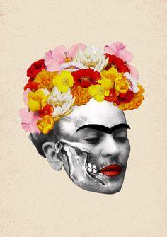 Prélude pour Frida by anna karenina, via Behance #frida #collage