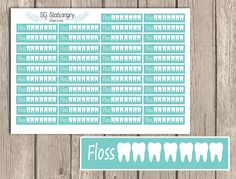 *** DESCRIPTION ***  One 5 x 7 sheet of 42 FLOSS CHECK LIST Functional planner stickers kiss cut and ready for use. These stickers Functional