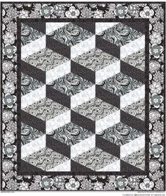 Quilting-Patterns.jpg 799×942 pixels Quilt Blocks, Tumbling Blocks Quilt, Quilting Patterns, Quilting Ideas, Van Zandt, Andover Fabrics, Mc Escher, 3d Quilts, Barn Quilts