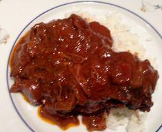 Pomalu pečený hovězi krk s rýží
