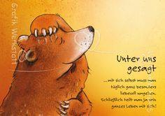 Unter uns gesagt - Postkarte - Grafik Werkstatt Bielefeld