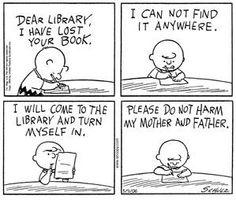Charlie Brown library cartoon by Ann Giles, via Flickr