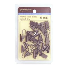 <div>Use these metal hook clips by Recollections to display your little one's pictures or artwor...