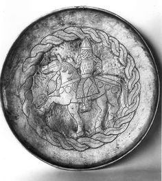Magyar? horseman on silver dish from Muzhy