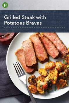 This recipe also features charred green onion. Grilling Recipes, Pork Recipes, Fish Recipes, Cooking Recipes, Healthy Recipes, Beef Dishes, Food Dishes, Publix Aprons Recipes