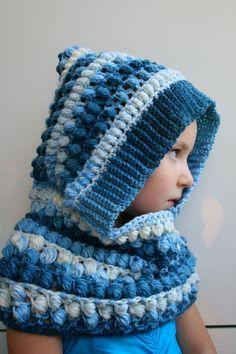 Crochet Pattern crochet hooded scarf pattern hooded by LuzPatterns #crochetpatterns #crochet