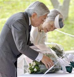Empress Michiko, July 22, 2014 in Akio Hirata   Royal Hats....Imperial Couple Visit Miyagi...Posted on July 23, 2014 by HatQueen....Emperor Akihito and Empress Michiko of Japan traveled to Miyagi prefecture yesterday.