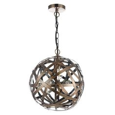 Dar VOY0164 Voyage 1 Light Ceiling Pendant Antique Copper