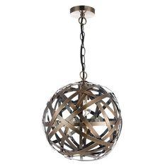 Dar VOY0164 Voyage 1 Light Ceiling Pendant Antique Copper