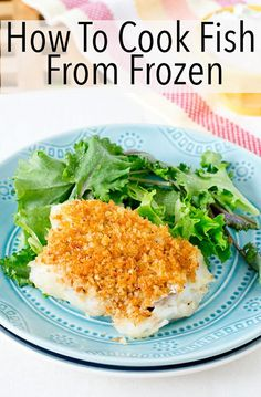 How To Cook Fish From Frozen Fish has never been more convenient. Here is the explanation for how to cook fish from frozen. Super-simple with tender flaky results every time. And a bunch of recipes to try as well. Cod Fillet Recipes, Cod Recipes, Seafood Recipes, Cooking Recipes, Healthy Recipes, Cooking Fish, Dinner Recipes, Cooking Videos, Fishing