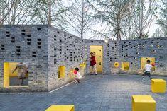 Landscape Engineer, Axonometric View, Persian Silk Tree, Urban Rooms, Brick Projects, Art Village, Landscape Elements, Grey Brick, Corten Steel