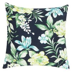 Extend your love of vintage florals with the dramatic colour contrast on the cotton Hayman Cushion, Black from Rapee. Tropical Island, Kare Design, Bordeaux, First Love, Cushions, Tapestry, Throw Pillows, Color, Vintage