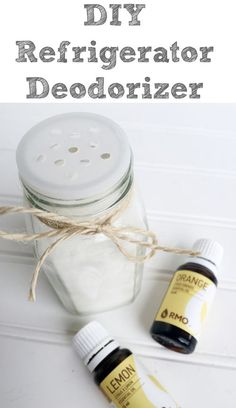 Love this quick and easy way to help eliminate odors in my fridge!