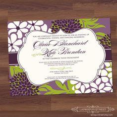 Bridal Shower Invitation  Sophisticate Bloom  by LarkspurStreet, $16.00