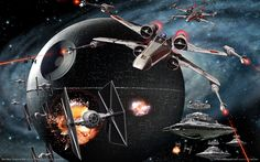 Shop our best value Wall Mural Wallpaper Star Wars on AliExpress. Check out more Wall Mural Wallpaper Star Wars items in Home & Garden, Home Improvement! And don't miss out on limited deals on Wall Mural Wallpaper Star Wars! Star Wars Episoden, Star Wars Ships, Star Wars Wallpaper, Hd Wallpaper, Wallpaper Stickers, Starwars, Electronic Arts, X Wing Fighter, Tie Fighter