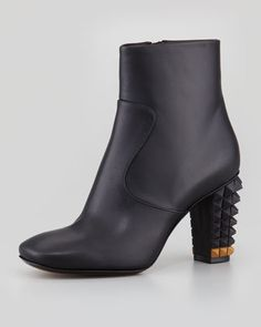 Spike-Heel Ankle Bootie by FENDI at Neiman Marcus. $995