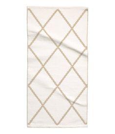 Baumwollteppich weiß  Jacquard-Baumwollteppich | Weiß/Gemustert | Home | H&M DE | Küche ...