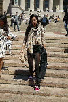 On campus at Columbia University. [Photo by John Aquino]