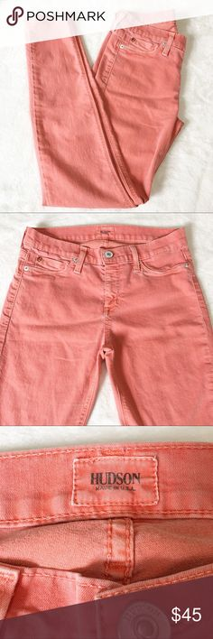 """Hudson Coral Skinny Ankle Jeans Nice lightweight jeans in great condition. Material - 67% Cotton 29% Pes 4% Lycra. Approximate Measurements - Waist (laying flat) 14-1/2"""" Inseam 29-1/2"""" Rise 9"""".  T8 Hudson Jeans Jeans Skinny"""