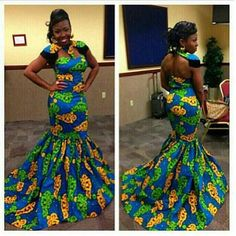 Lovely Ankara Gown Style for Ladies - DeZango Fashion Zone