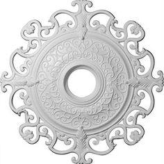Ekena Millwork Orleans 38.375-in x 38.375-in Polyurethane Ceiling Medallion