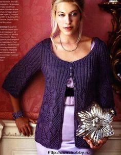 Moonlight Sonata Cardigan free graph knitting pattern