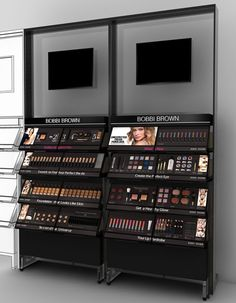 our new location pos cosmetics display Makeup Display, Cosmetic Display, Cosmetic Shop, Pop Display, Display Design, Store Design, Shelf Display, Boutique Interior, Pharmacy Design