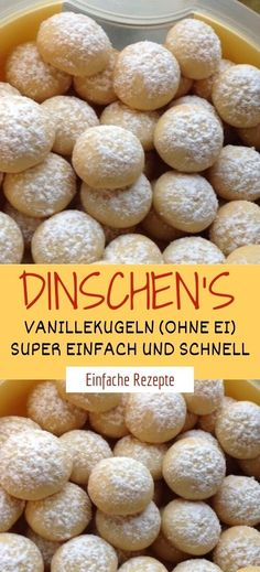Ingredients: dinschen's vanilla balls (without egg) 250 g soft butter 300 g flour 1 level tsp baking Easy Smoothie Recipes, Easy Smoothies, Snack Recipes, Coconut Smoothie, Ground Turkey Recipes, Coconut Recipes, Cinnamon Cream Cheeses, Pumpkin Spice Cupcakes, Ice Cream Recipes