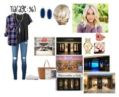 """""""Tia-Shopping For The 4th Of July Photoshoot"""" by dreamfamily ❤ liked on Polyvore featuring Frame, H&M, Rails, Converse, Kendra Scott, Tory Burch, MICHAEL Michael Kors, TheAustinFamily and tiastalents"""