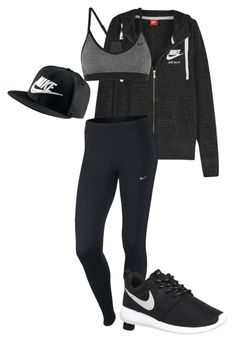 """""""NIKE"""" by rochuuviviann ❤ liked on Polyvore featuring NIKE, women's clothing, women, female, woman, misses and juniors"""