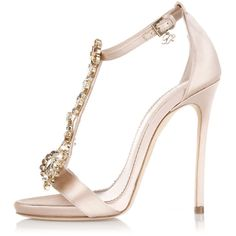 Dsquared2 11,5 Cm Satin Sandal High Heel with Jewel Applicat ($635) ❤ liked on Polyvore featuring shoes, sandals, heels, pink, stiletto sandals, heeled sandals, high heels stilettos, pink heel sandals and jeweled sandals