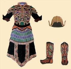 Site with reconstruction of armour through Chinese ages Windwing: China Ancient Armours Lamellar Armor, Chinese Armor, Chinese Traditional Costume, Ancient Armor, Two Piece Skirt Set, One Piece, China, Vintage Ladies, Vintage Woman