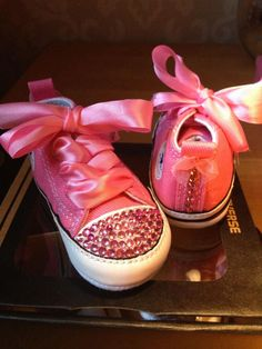 detailed look 59d64 88c0d Customised Pink Converse! Swarovski Crystals!! Follow Us- Like Us on  Facebook- All Gemmed Up!