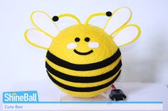 cute bumblebee | cute bee copy....make these out of yellow paper lanterns?!?