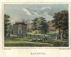 Sandwyk, in: Gezigten van Buitenplaatsen en gebouwen gelegen tusschen de Stad Utrecht en de Grebbe - geteekend naar het leven door M. Mourot 1829