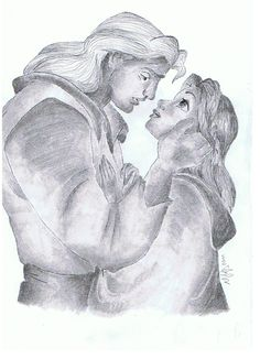 belle & prince adam... such a shame i hate it when he changes from the beast.