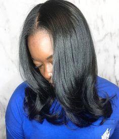 Beautiful silk press by @thehairkitchen_ - https://blackhairinformation.com/hairstyle-gallery/beautiful-silk-press-thehairkitchen_/