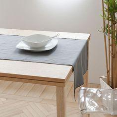Grey marl washed linen table runner - Дорожки настольные - СТОЛОВАЯ | Zara Home Российская Федерация