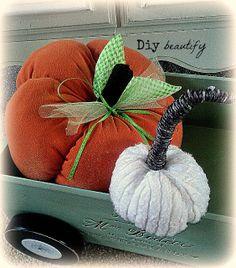 Diy beautify: Sweater Pumpkin Tutorial (and a bonus!)