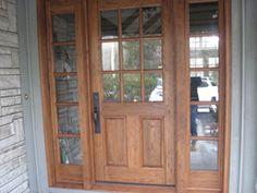 Chestnut front door with Chestnut side lights