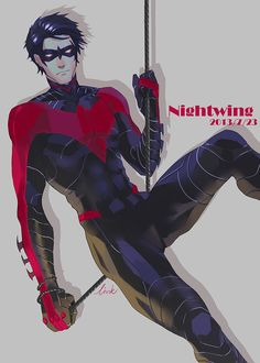 Nightwing - still mad over the switch to red