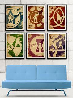 Avengers Minimalist Movie Poster Set / Captain America, Iron Man, Thor, Hulk, Black Widow, Hawkeye on Etsy, $60.00