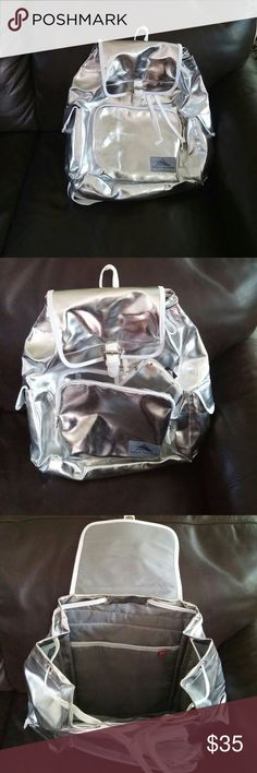 Backpack Brand new. Silver with pencil case. HIGH SIERRA Bags Backpacks